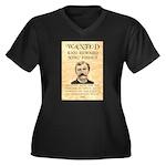 King Fisher Women's Plus Size V-Neck Dark T-Shirt