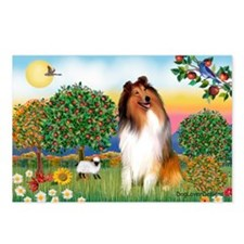 Appletrees / Collie (s) Postcards (Package of 8)