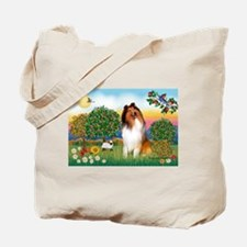 Appletrees / Collie (s) Tote Bag