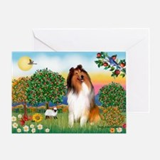 Appletrees / Collie (s) Greeting Card