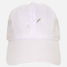 Dove with Olive Branch Baseball Baseball Cap
