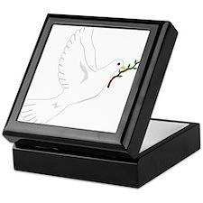 Dove with Olive Branch Keepsake Box