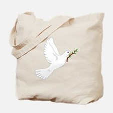 Dove with Olive Branch Tote Bag