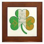 The Masons Irish Clover Framed Tile