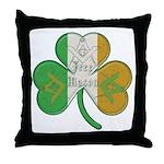 The Masons Irish Clover Throw Pillow