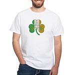 The Masons Irish Clover White T-Shirt