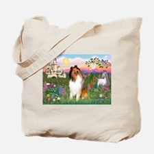 The Castle / Collie (s) Tote Bag