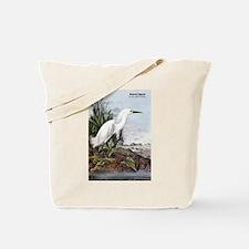 Audubon Snowy Egret Bird Tote Bag