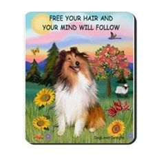 Free your hair/Collie Mousepad