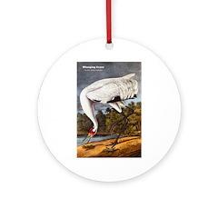 Audubon Whooping Crane Bird Ornament (Round)