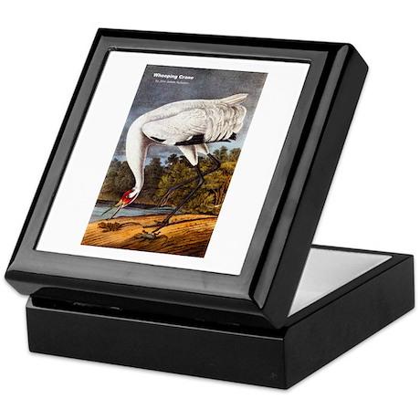 Audubon Whooping Crane Bird Keepsake Box