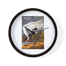 Audubon Whooping Crane Bird Wall Clock