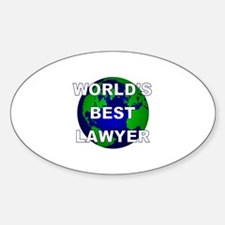 World's Best Lawyer Oval Decal