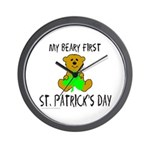 MY BEARY FIRST ST. PATRICK'S DAY Wall Clock