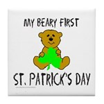 MY BEARY FIRST ST. PATRICK'S DAY Tile Coaster