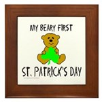 MY BEARY FIRST ST. PATRICK'S DAY Framed Tile