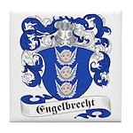 Engelbrecht Family Crest Tile Coaster