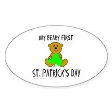 MY BEARY FIRST ST. PATRICK'S DAY Oval Decal