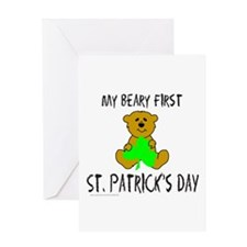 MY BEARY FIRST ST. PATRICK'S DAY Greeting Card