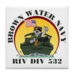 RivDiv 532 River Rats Tile Coaster