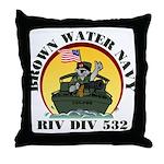 RivDiv 532 River Rats Throw Pillow