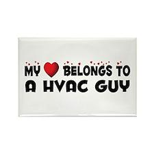 Belongs To A HVAC Guy Rectangle Magnet