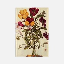 Garden Pansy by Merian Rectangle Magnet