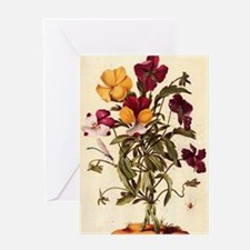 Garden Pansy by Merian Greeting Card