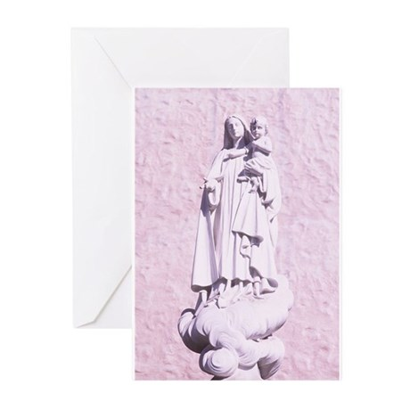 Madonna Statue Greeting Cards (Pk of 20)