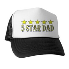 5 Star Dad (large gold) Trucker Hat