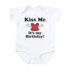 Kiss Me It's My Birthday! Infant Bodysuit