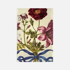 French Rose by Merian Rectangle Magnet