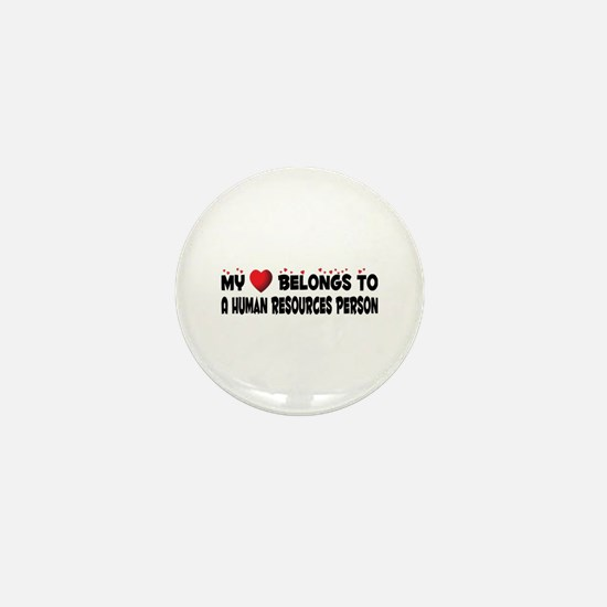 Belongs To A Human Resources Person Mini Button