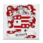 Erbach Family Crest Tile Coaster