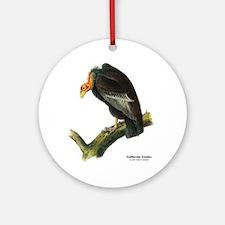 Audubon California Condor Bird Ornament (Round)