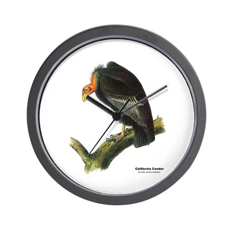 Audubon California Condor Bird Wall Clock