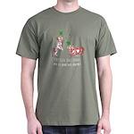 Frenchie Good Luck (PINK/DARK) Dark T-Shirt