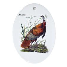 Audubon Wild Turkey Bird Oval Ornament