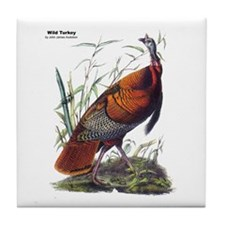 Audubon Wild Turkey Bird Tile Coaster