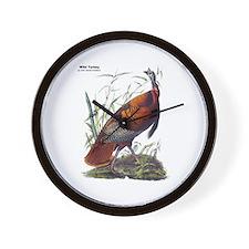 Audubon Wild Turkey Bird Wall Clock