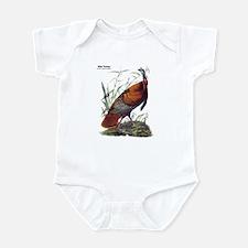 Audubon Wild Turkey Bird Infant Bodysuit