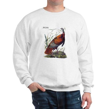 Audubon Wild Turkey Bird (Front) Sweatshirt
