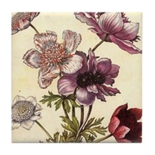 Anemones by Merian Tile Coaster