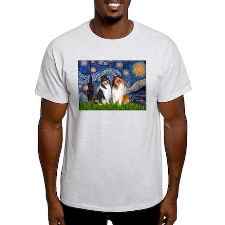 Starry Night / Collie pair Light T-Shirt