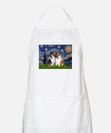 Starry Night / Collie pair Apron