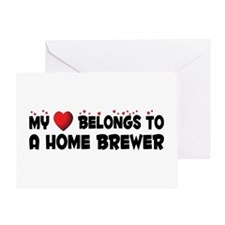 Belongs To A Home Brewer Greeting Card