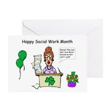 Social Work Month Desk2 Greeting Card