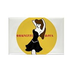 BRUNETTE LOVER Rectangle Magnet (100 pack)