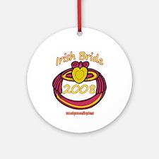 PINK CLADDAGH BRIDE 2008 Ornament (Round)