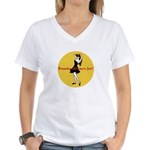 BRUNETTES HAVE MORE FUN Women's V-Neck T-Shirt